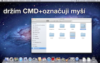 Klávesové zkratky pro Mac