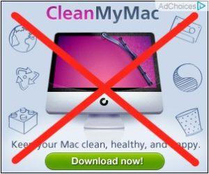 Vyhněte se aplikacím MacKeeper a CleanMyMac.