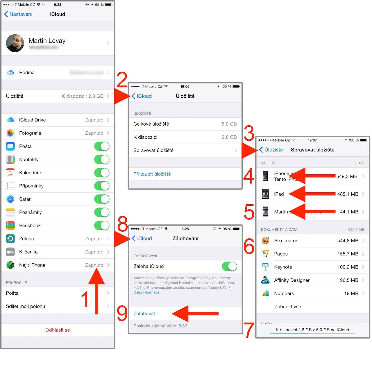 iCloud iOS 8.2.1